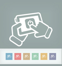 mobile power switch vector image