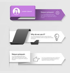 modern infographic arrows - options banner vector image