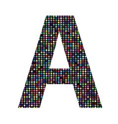 Multicolor letter A vector