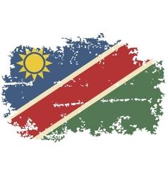 Namibia grunge flag vector image