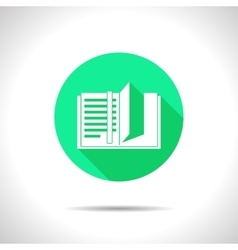 notebook icon Epsflat0 vector image