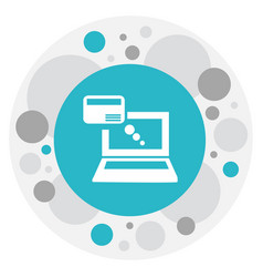 Of banking symbol on online vector