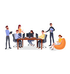 Office team building exercise vector