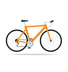 orange bicycle flat icon bike isolated on vector image