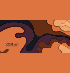 papercut layers 3d color texture background vector image