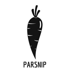 Parsnip icon simple style vector