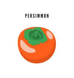 Persimmon japanese exotic dessert cartoon fruit vector