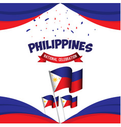 Philippines national celebration poster template vector