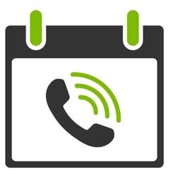 Phone Call Calendar Day Flat Icon vector