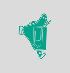 Police holster gun icon vector