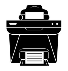 Printer front view icon simple style vector