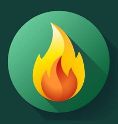 Red fire flame icon logo vector