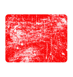 red rectangular grunge stamp with copyspace vector image