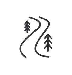 river trail icon vector image