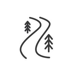 River trail icon vector