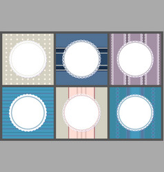 round spare frames on strips circle border vector image