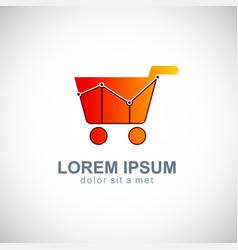 Sale business shopping cart logo vector