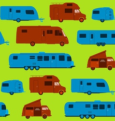 Seamless Caravan Pattern vector