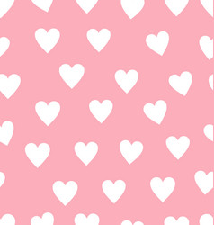 seamless red and pink heart pattern background vector image