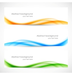 Set colorful softness banners vector