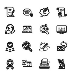 set education icons such as keywords creative vector image