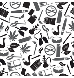 smoking and cigarettes simple black icons pattern vector image