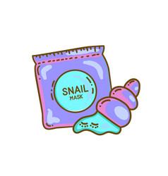 snail mask concept vector image