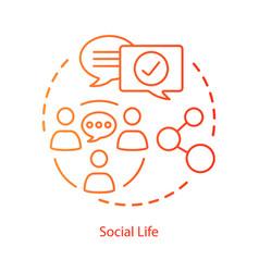Social life interactions concept icon personal vector