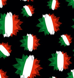 Star flag of Italy seamless pattern Background of vector image