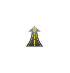 Straight road goes up in arrow to success way vector