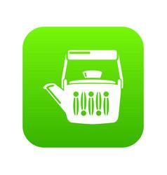Teatime icon green vector