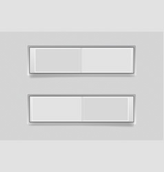 toggle switch buttons blank 3d gray icons on and vector image