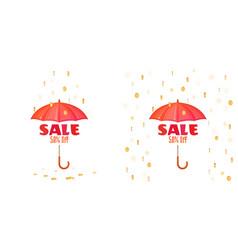 Umbrella and sale announcement vector