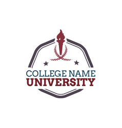 university college logo vector image