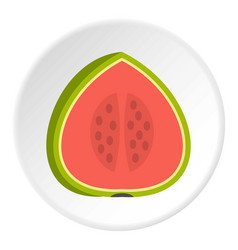 Watermelon icon circle vector
