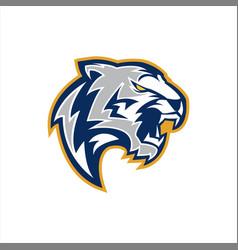 White tiger e sports logo vector