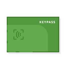 Wireless key pass access card isolated on white vector