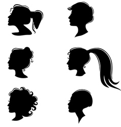 womans profile vector image