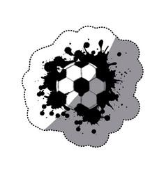 contour soccer ball icon vector image vector image
