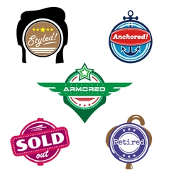 Funny badges vector image vector image