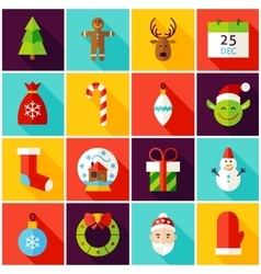 Happy New Year Colorful Icons vector image