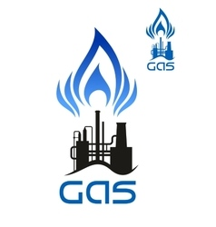 Oil and natural gas industrial factory vector image vector image