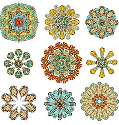 round abstract pattern vector image vector image
