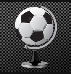 soccer game ball as globe isolated on white vector image