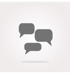 speech cloud on web icon button isolated on vector image