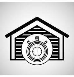 storage building service clock timer vector image vector image