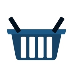 blue basket shop market icon vector image