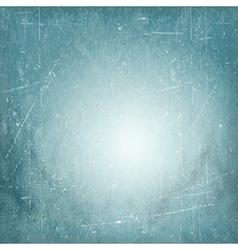 Blue scratched vintage vignette background vector image