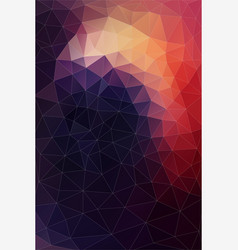 flat background of geometric shapes retro vector image vector image