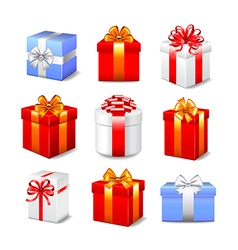 Gift boxes set vector image vector image